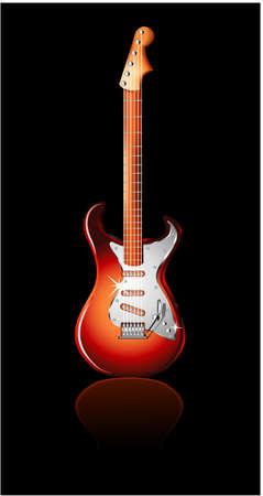 resonancia: Guitarra el�ctrica aislada en negro