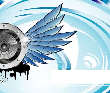 rave party: Resumen de eventos M�sica de fondo azul de