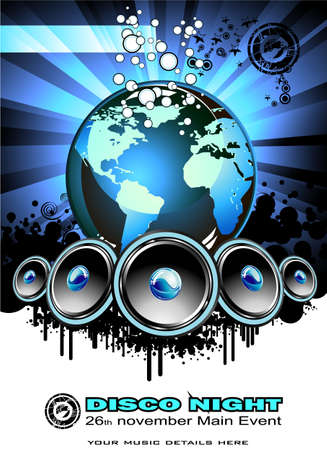 Sound of the world Abstract music background Stock Vector - 4896631