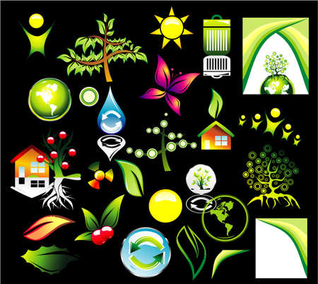 Complete Environment ans recycle Icon set and Business card background Stock Vector - 4896505