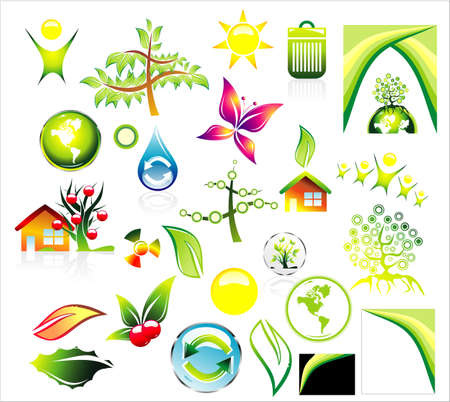 Complete Environment ans recycle Icon set and Business card background Stock Vector - 4896385