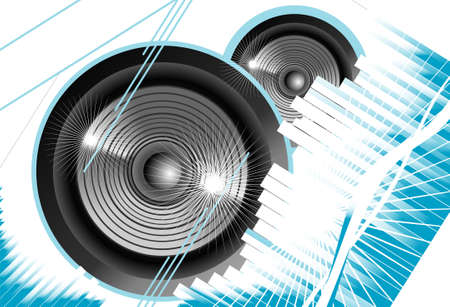 Big speaker equalizer sound background Illustration