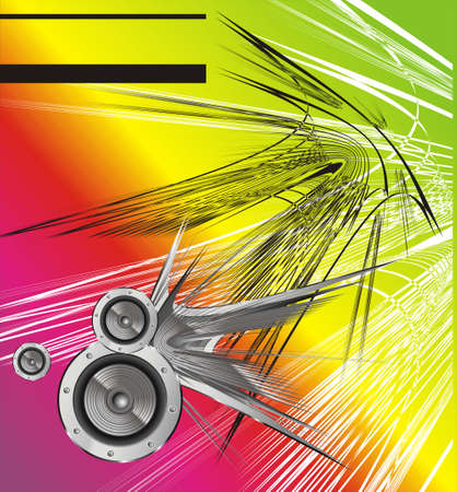 Music abstract background with speakers Vector