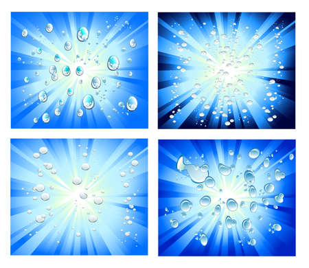Explosion of light with bubbles Background Vector