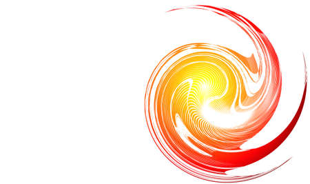 depliant: Abstract Spiral of fire concept business card background