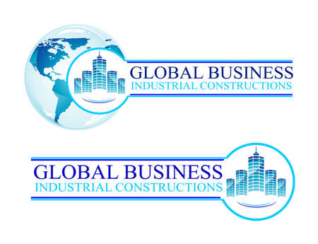 Real Estate and Construction Business Background with design elements Vector