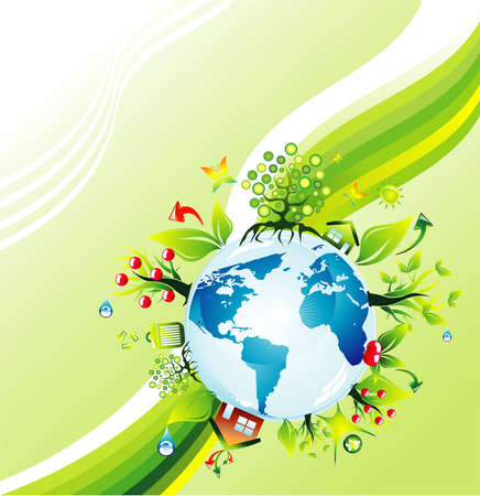 Abstract Environmental Earth concept background