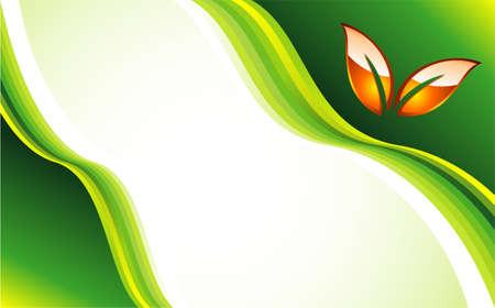 Environment Preserving Green Card template Vector