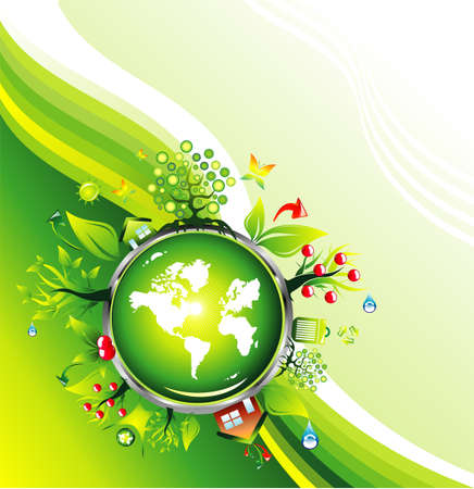 environmentally: Environmental and recycle Card template