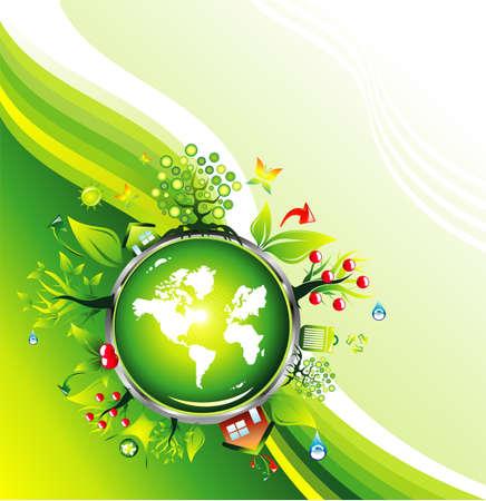 Umwelt-und Recycling-Card-Template