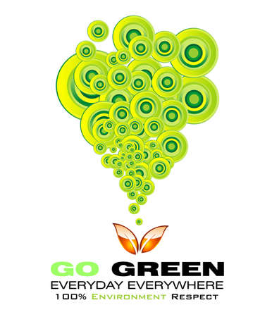 environmentally friendly: Go green recycle and environment background