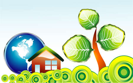 Go green recycle and environment background Vector