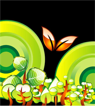 Go green recycle and environment background Stock Vector - 4896193