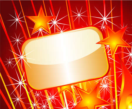 Glod Plated Text Field plate for Festive announcement Vector