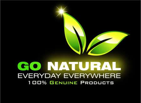 Go natural environment saving card Vector