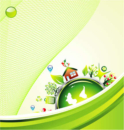 recyclable: environment safety background template Illustration