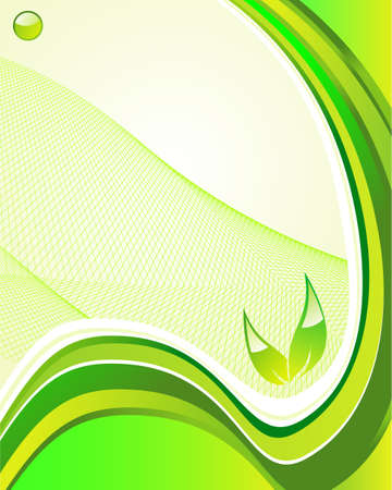 Green Environment background for nature safety Vector
