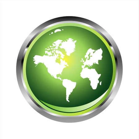 south east asia: Green World sfera lucida con effetto lucido