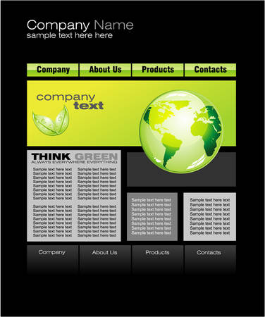 Environment Green Web Site Template Vector