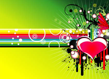 cicles: Music Love Party rainbow background  Illustration