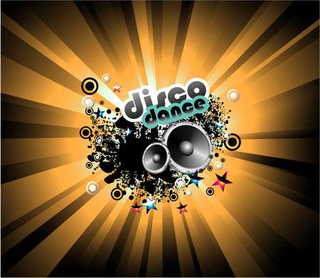 abstract music: Abstracte muziek-discotheek achtergrond template