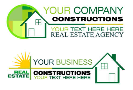 inspecting: Real Estate and Construction Business Background with design elements