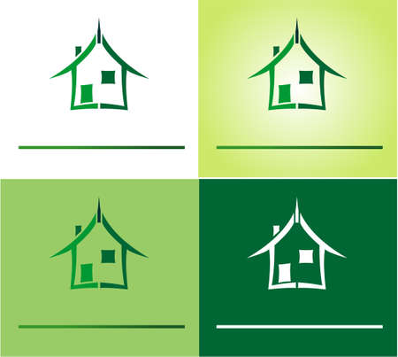Conceptual symbol and Icons for real estate company Vector