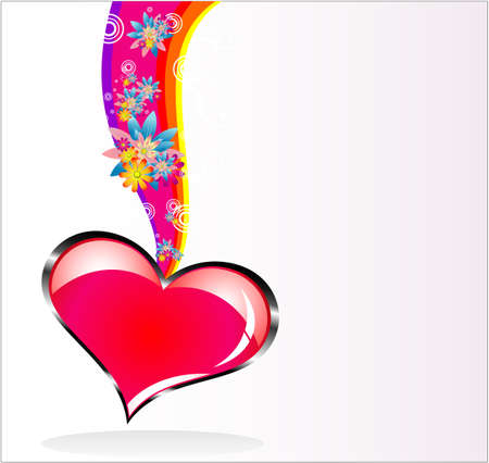 I love background for valentines day card Vector