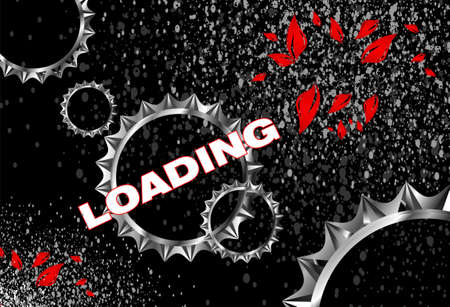 intro: Loading screen on gears black background