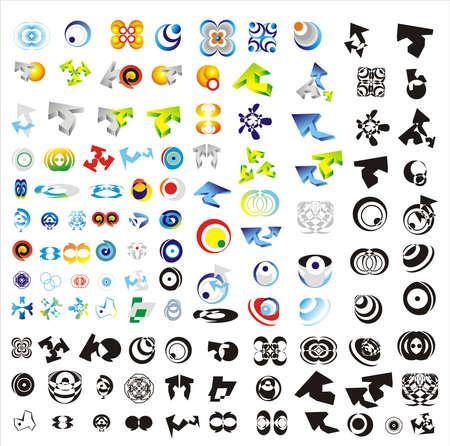 loghi aziendali: Una grande raccolta di 110 pi� societ� loghi o simboli aziendali. Vettoriali