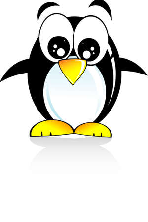 Colorful Cartoon Style funny penguin Illustration
