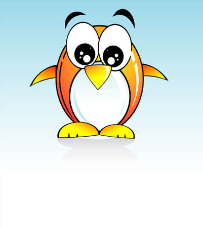 cip: Colorful Cartoon Style funny penguin Illustration