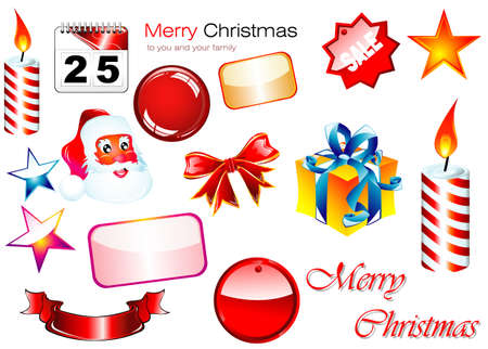 Set of high quality Christmas Design elements Stock Vector - 4897116