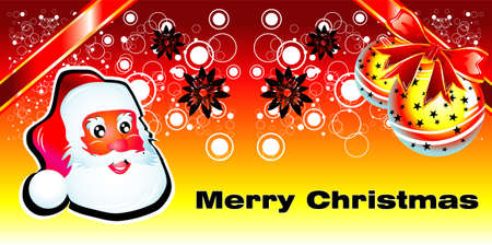 Abstract bubbles Santa Claus and Christmas background   Vector