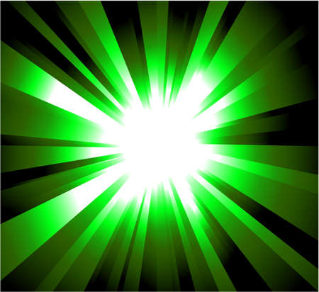 Abstract Green rays Explosion Background Vector