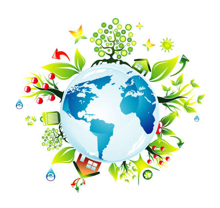 save environment:  Abstract Environmental Earth concept background