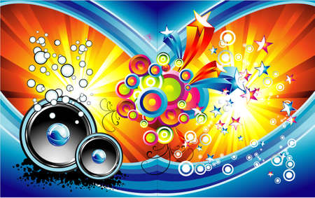 Colorful Music Fantasy complex background Vector