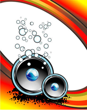 Abstract Music Business card with fantasy elements Stock Vector - 4896891