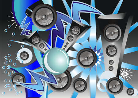 Abstract Background with music elements Vector