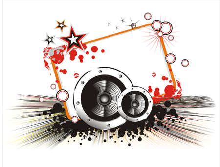 Colorful Love and music background Vector