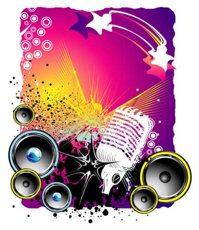 musica electronica: Evento de m�sica de fondo estilo grunge Vectores