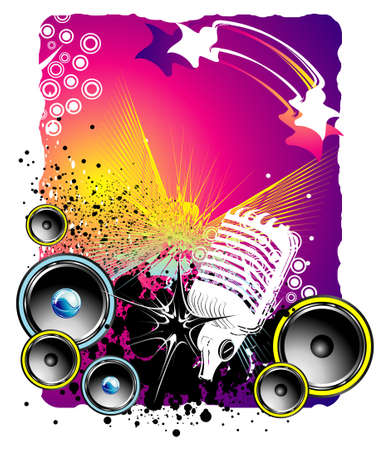 Music Event grunge style background Illustration