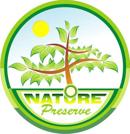 ozone friendly: Preserve the nature tree emblem