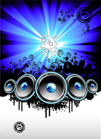 Big musical Event Disco Night template Stock Vector - 4897277