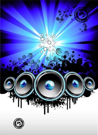 retro disco: Gran evento musical nocturno Discoteca plantilla Vectores