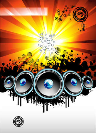 Big musical Event Disco Night template Vector