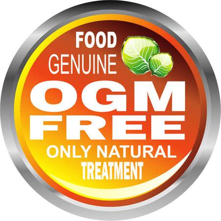 Emblème de nourriture gratuite de véritable naturelle des OGM