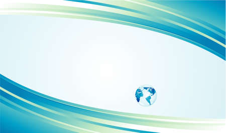 geodesy: Glossy delicate blue earth icon to use like background Illustration