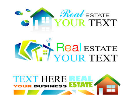 Design Elements to use for Real estate brochure or background Illustration