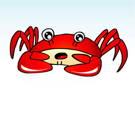 Lovely funny Red Sea Crab Vector